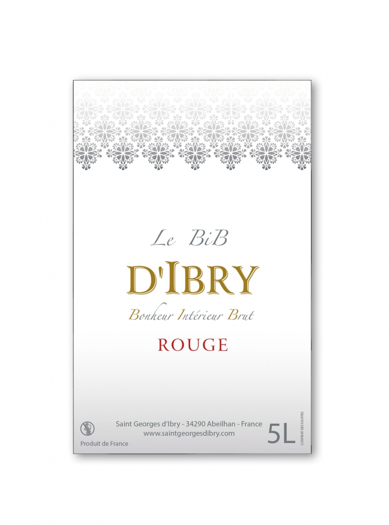 Bib d'Ibry Rouge 5L. Crédits : ©saintgeorgesdibry.com 2020